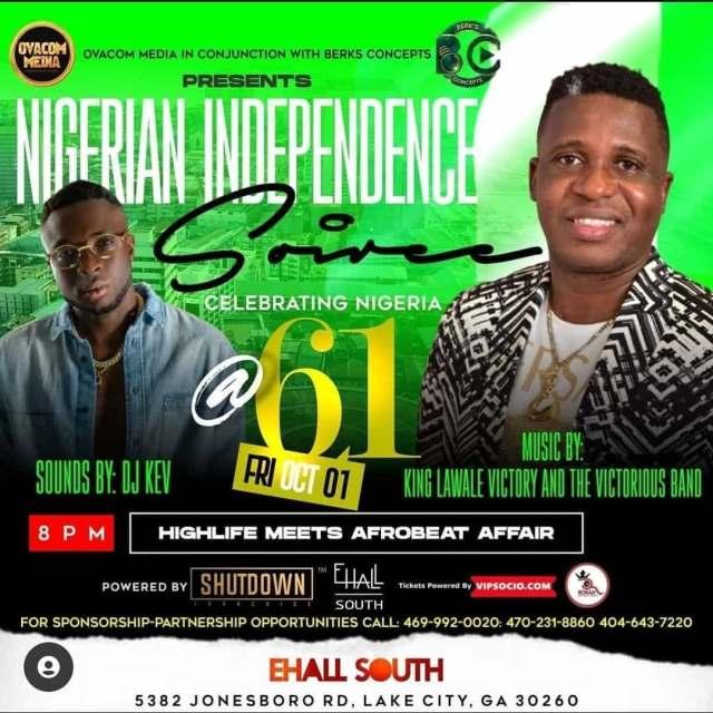 Nigerian Independence Siree 2021: Atlanta Set To Host Biggest Pan African Concert