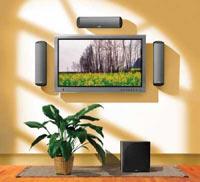 תליית פלזמה או טלויזית LCD