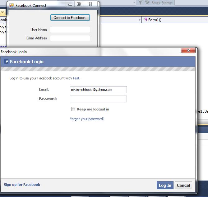 Using Facebook SDK in Desktop Application C#.Net (6/6)