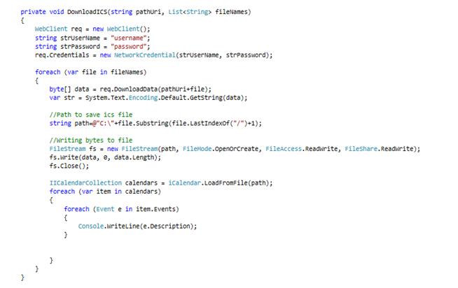 Sync Calendar Events using CALDAV in C# (2/3)