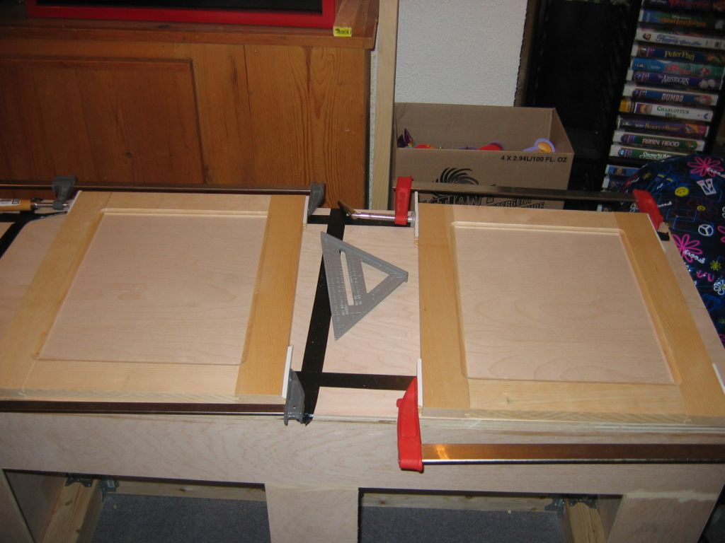 how to make kitchen cabinet doors faucet brands wood shooting bench plans plywood drop work
