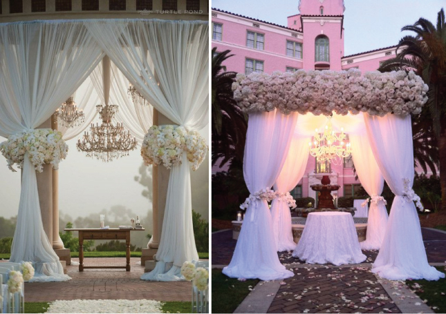 Floral canopies Chuppah Ideas  Ovations Event  Wedding Planners