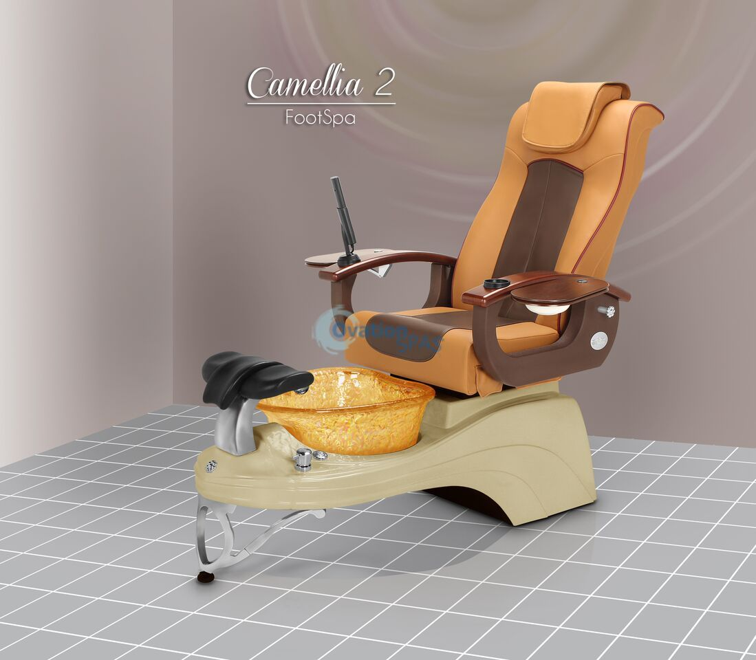 Pedicure Chair Free Nail Table With Camellia Spa Chair