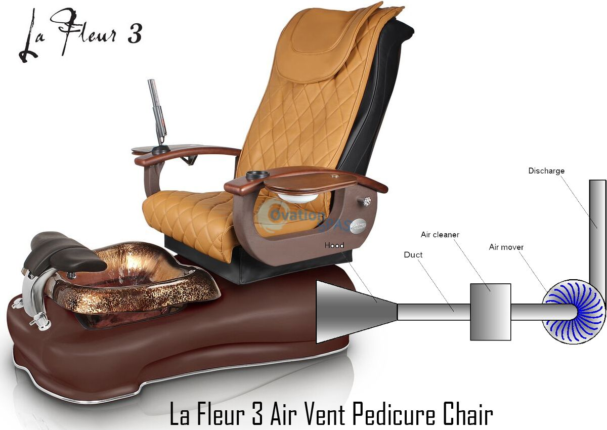 Pedicure Chair La Fleur 3 Exhaust Vent Pedicure Spa