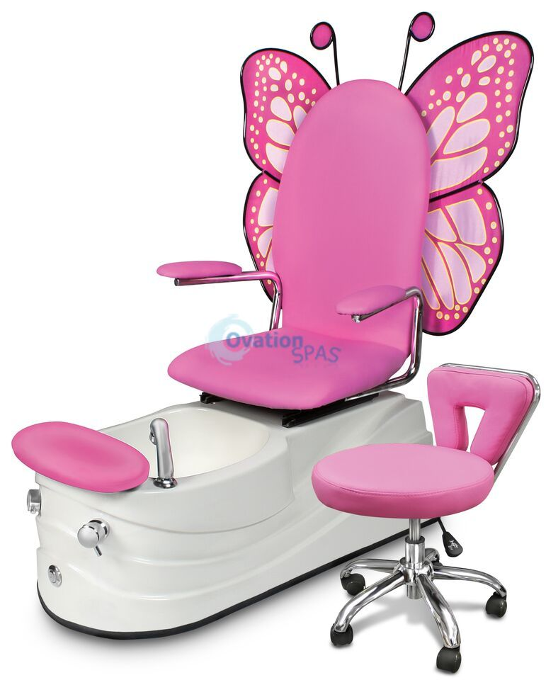 child pedicure chair design in wood mariposa 4 kid spa chairs pediucre spas