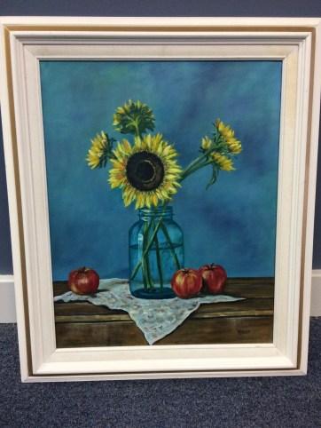 """Sunflower"" Oil Painting"