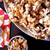 honey + milk chocolate caramel corn
