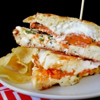 national sandwich month: sweet potato grilled cheese with ricotta + sage