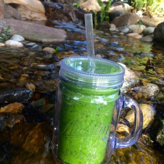 The Green Goddess Smoothie with Ginger and Lime