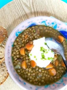 lentils, soup, lentil soup, vegetarian