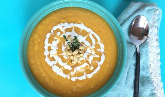 4 Ingredient Sweet Slow Cooker Butternut Squash Soup