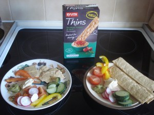 www.over40andamumtoone.com Lunch with Ryvita Thins