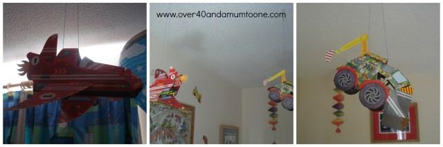 www.over40andamumtoone.com Jack's Mega Machine mobiles