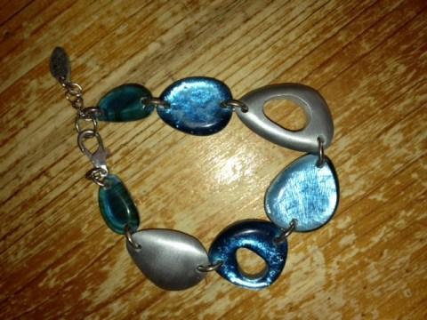 Bracelet, glass, metal