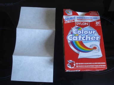 Picking out the colour catcher sheet