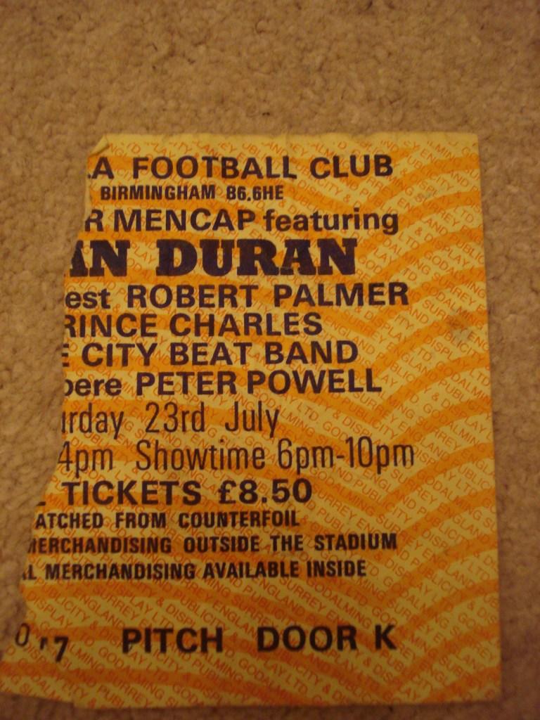 my golden ticket - Duran Duran concert ticket