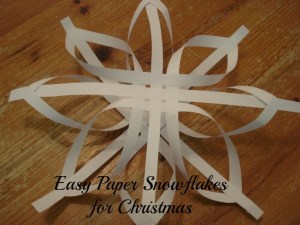 Easy Paper Snowflakes for Christmas