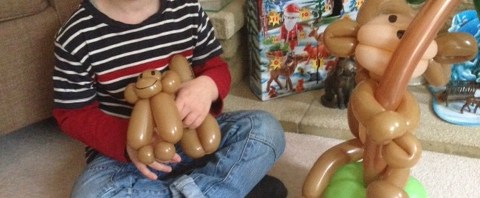 House full of Monkey's with Balloon Baboon