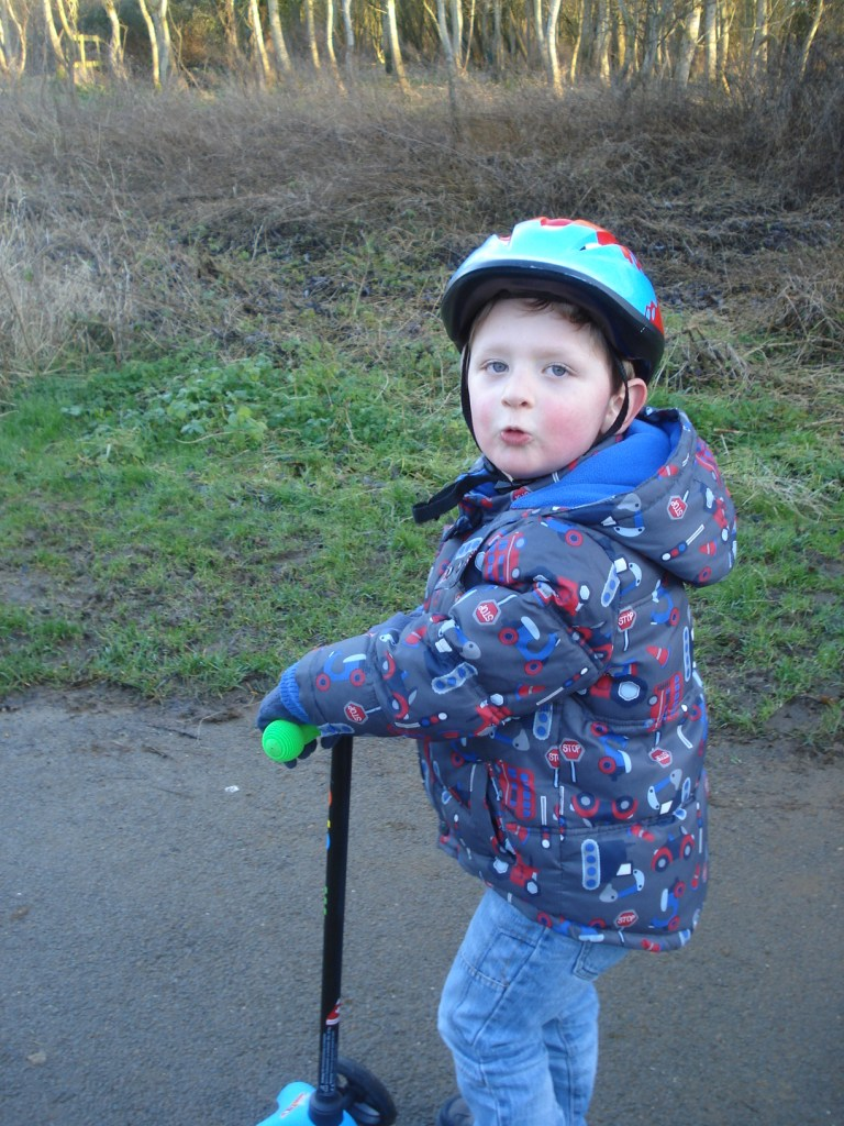 Scooting with Daddy