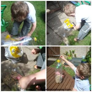 Making a bird feeder, Big Garden Birdwatch is this weekend
