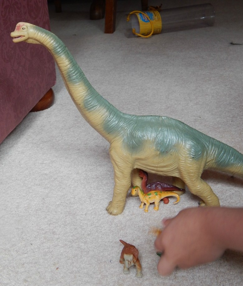Exploring with dinosaurs