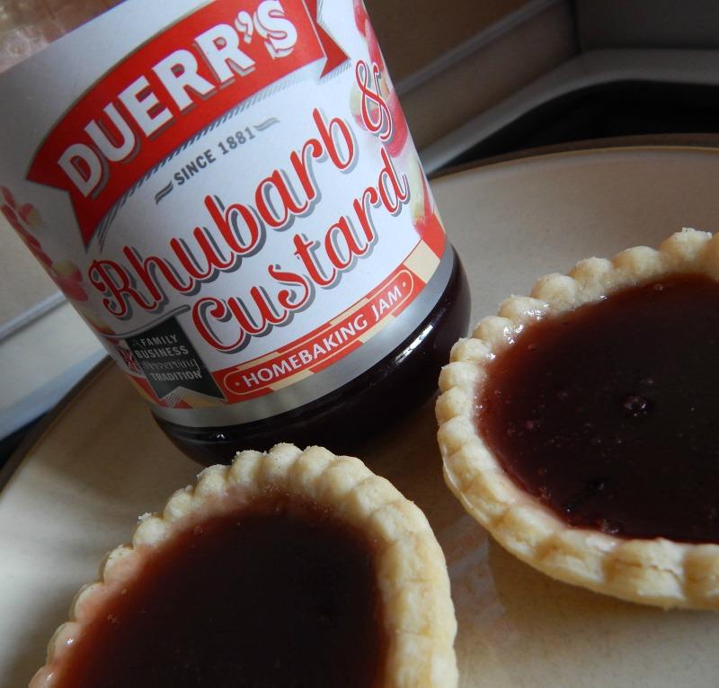Rhubarb and Custard Jam Tarts with Duerr's
