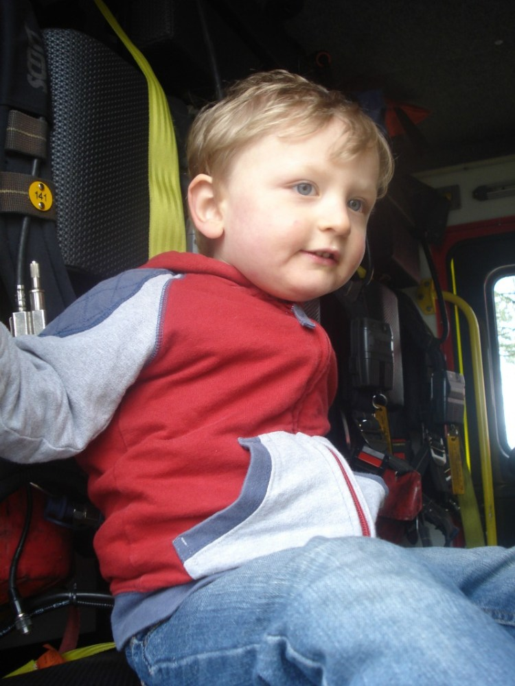 Sitting in a Fire Engine