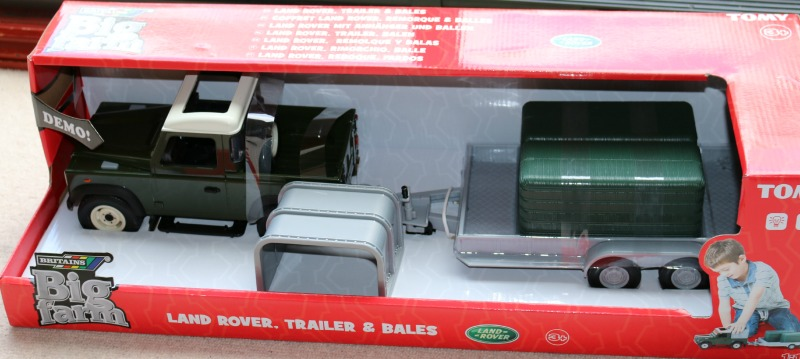 Britains Big Farm Landrover, Trailer and Bales