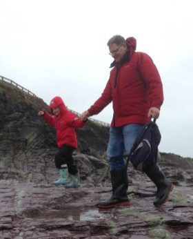 In the last two weeks we've got blown away on Polzeath beach, watched Daddy P fly a kite (finally) at Trevone, walked for miles at various National Trust properties and