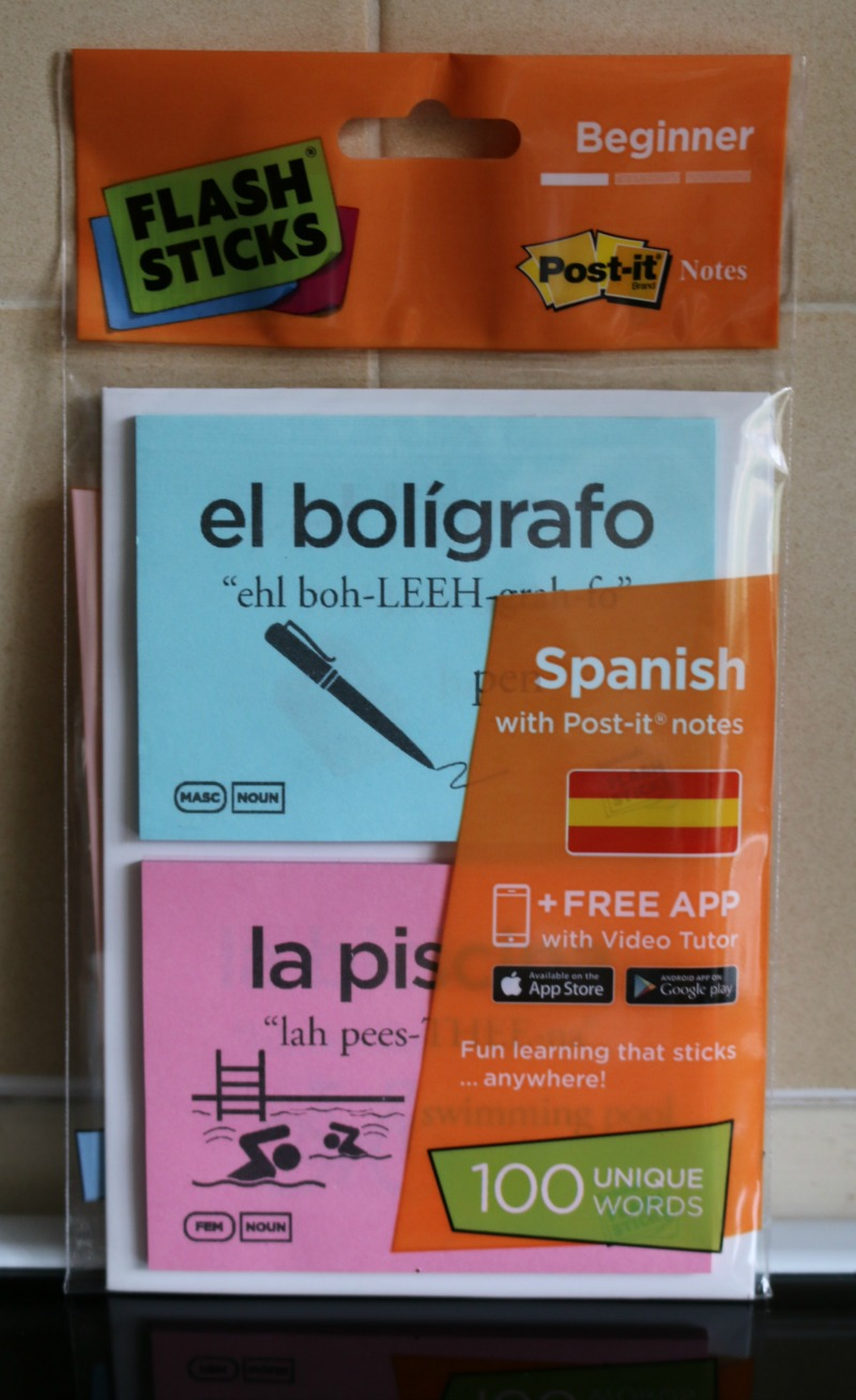 Improving our Spanish with FlashSticks