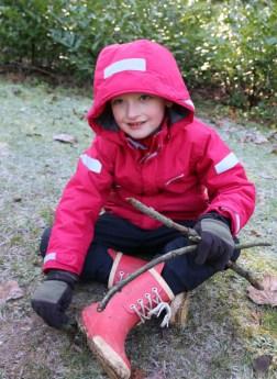 Animal tracks trail at Stowe Landscape Gardens Sticks 3
