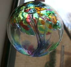 recycled glass globe
