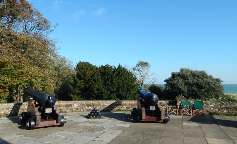 Cannons at Walmer Castle