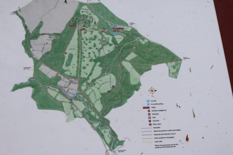 Map of Lanhydrock