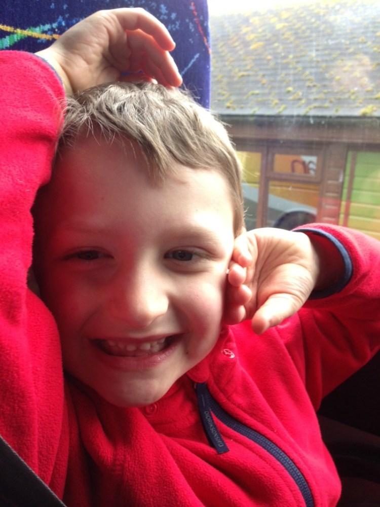 Sharing Mummy on a school trip