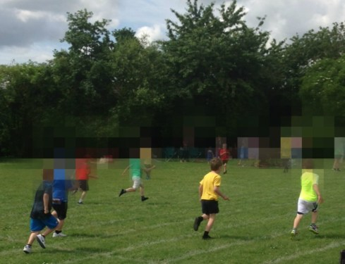 Joining in with Sports Day