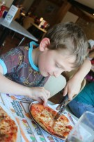 Family time at Pizza Express