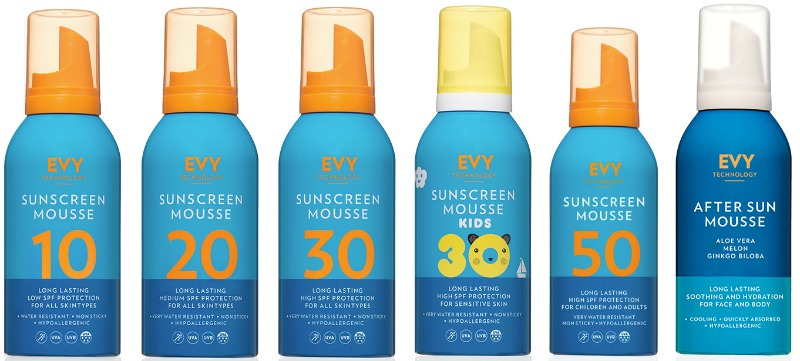 Staying safe in the sun with EVY Sun Mousse