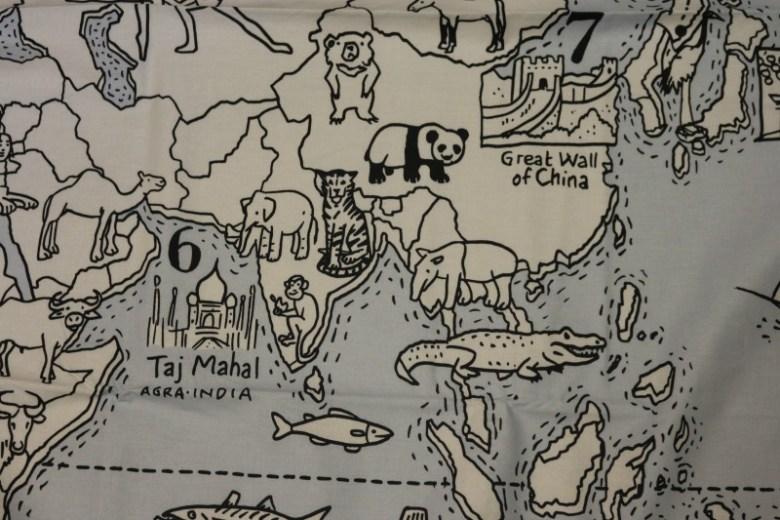 Colour & Learn World Map duvet cover