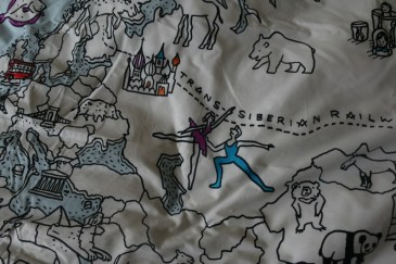 Colour & Learn World Map duvet cover