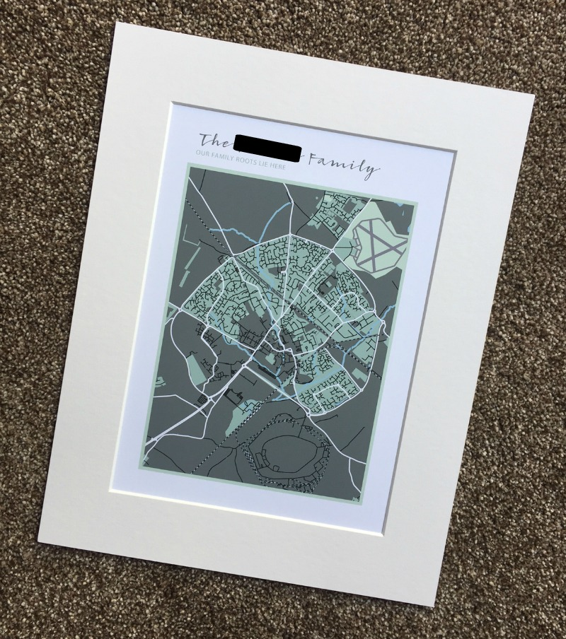 Personalised Family Map Prints from Betsy Benn