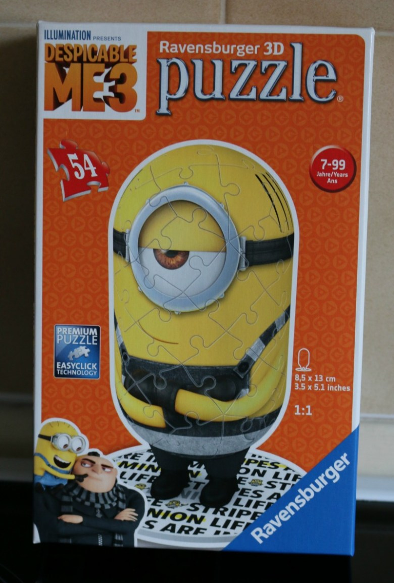 Ravensburger Despicable Me 3 Shaped Prisoner Minion 3D puzzle