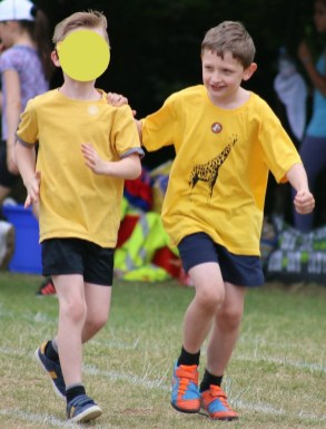 A different boy at Sports Day