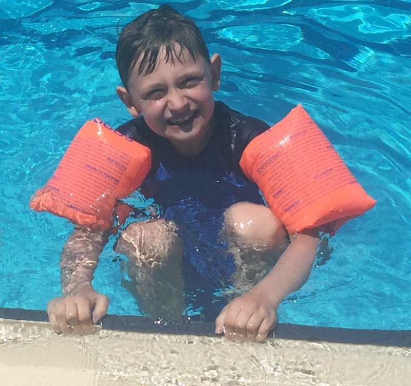 Swimming lesson success and Beaver Camp fun