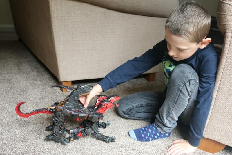 Transformers: The Last Knight Mega 1-Step Turbo Changer Dragonstorm Figure