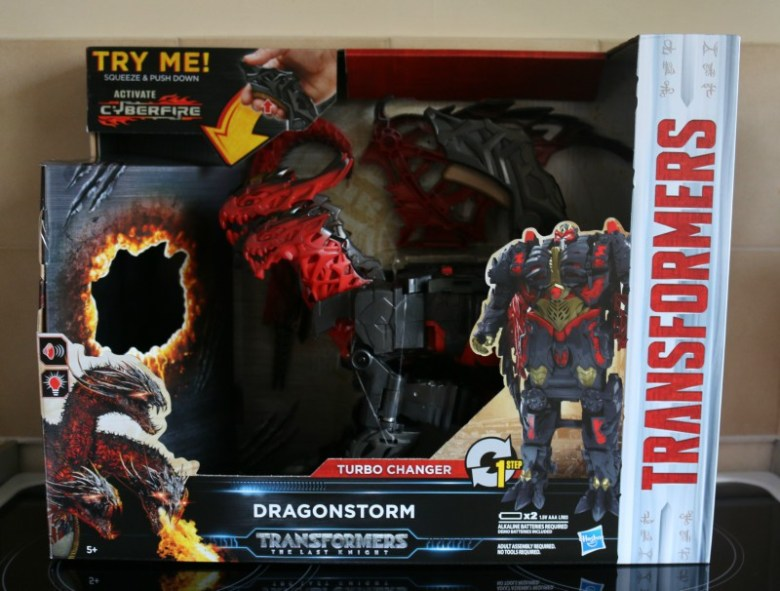 Transformers: The Last Knight Mega 1-Step Turbo Changer Dragonstorm Figure