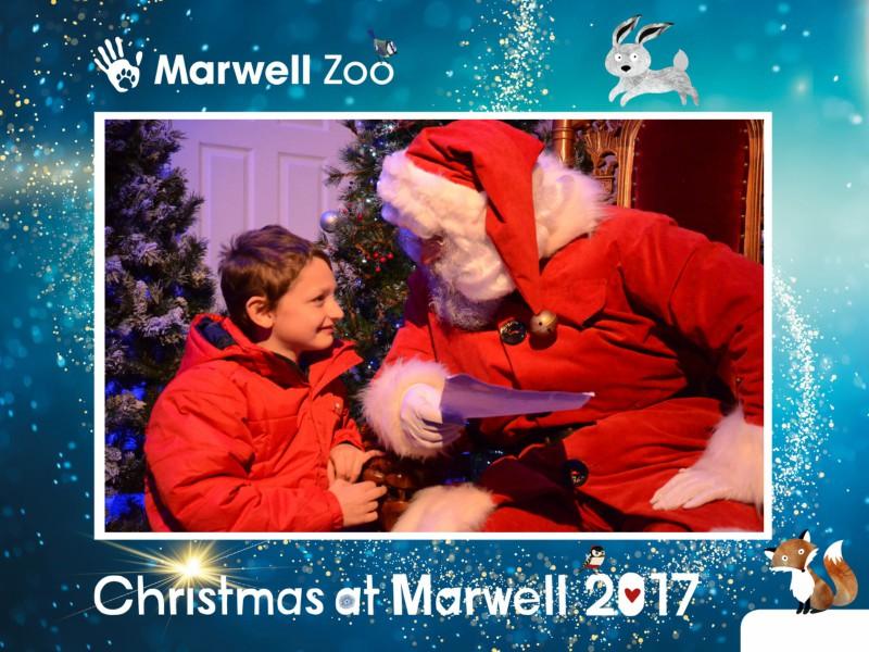 Enjoying Christmas at Marwell Zoo