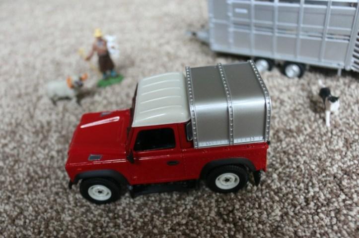 Britains Land Rover and Livestock Trailer Set
