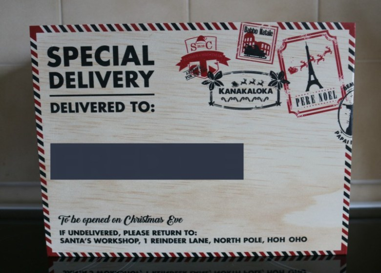 Personalised Christmas Eve box from Santa Sacks