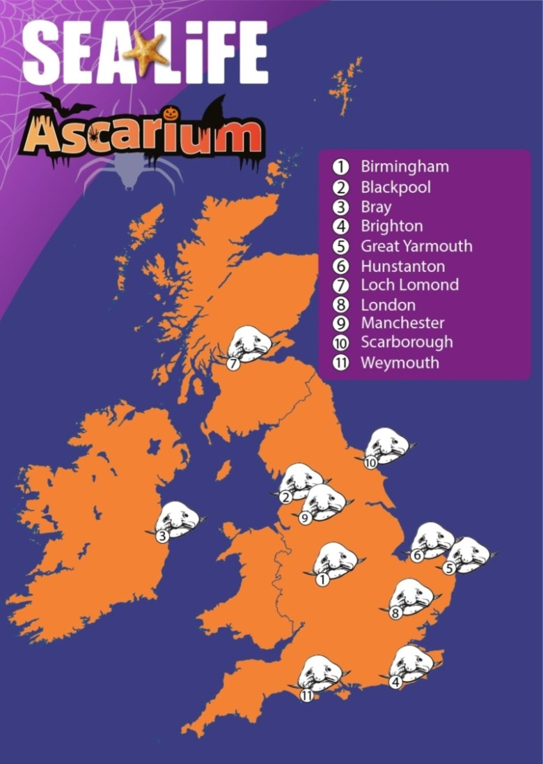Ascarium at SEA LIFE Weymouth for Halloween